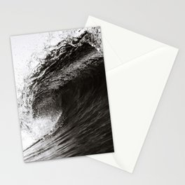 Big Wave, Black and White Art, Coastal Wall Art Stationery Cards
