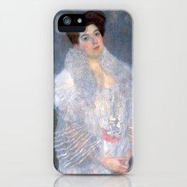 "Gustav Klimt ""Portrait de Hermine Gallia"" iPhone Case"