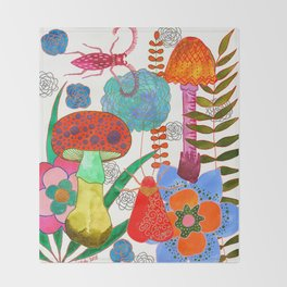 Foraging For Your Heart Throw Blanket