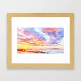 Calm before a storm Framed Art Print