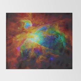 Orion NEBula  : Colorful Galaxy Throw Blanket