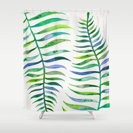 Palm Leaf – Green Palette Shower Curtain