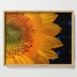 Floral Nature Photograph Close-up Sunflower Serving Tray