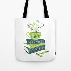 Tea & Books (C.S Lewis) - green/blue Tote Bag