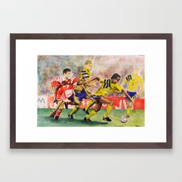 Soccer Soldiers Framed Art Print