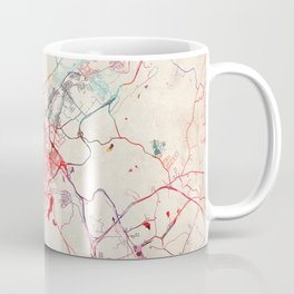 Scranton map Pennsylvania painting Coffee Mug