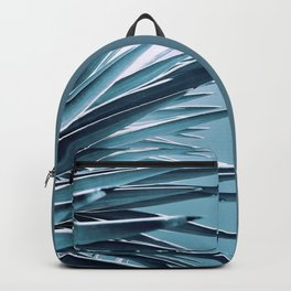 Palm Rays - Duotone Black and Teal Backpack
