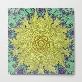 Clock Mandala Metal Print