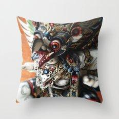 Balinese God Statue Throw Pillow
