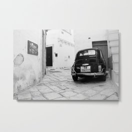 Time travel in Martina Franca Metal Print
