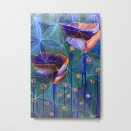 Flowers of Life Metal Print