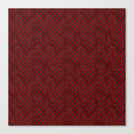 Retro Check Grunge Material Red Black Canvas Print