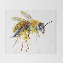 Watercolor Bee Throw Blanket