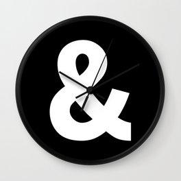 Ampersand (White & Black) Wall Clock