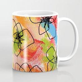 Hibiscus Family #1 - hibiscus illustration flower pattern floral painting nursery room decor Hawaii Coffee Mug