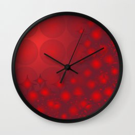 Red Planets Wall Clock