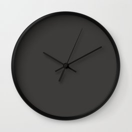 Solid Iridium Black Color Code #3D3C3A Wall Clock