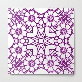 Mindful Mandala Pattern Tile MAPATI 139 Metal Print
