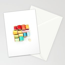 Colorful Needle and Thread Stationery Cards