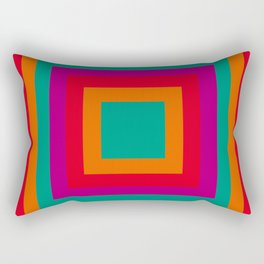 Square red Rectangular Pillow