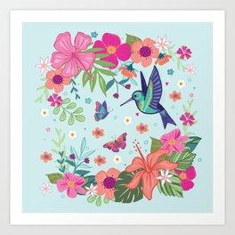 Little Hummingbird Art Print