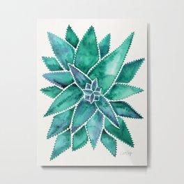 Aloe Vera – Turquoise Palette Metal Print