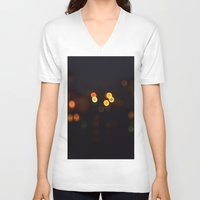 bokeh V-neck T-shirts featuring Bokeh by KoshoyBM