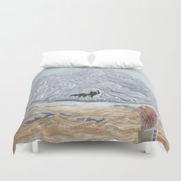 winter wolf Duvet Cover