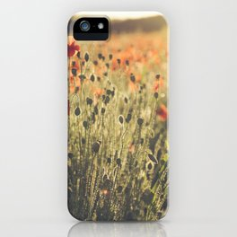 Wildflower Poppy Fields. iPhone Case