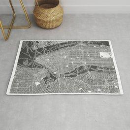 New York City Vintage Map Rug