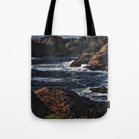 norway Tote Bags featuring Norway Landscape by Christine baessler