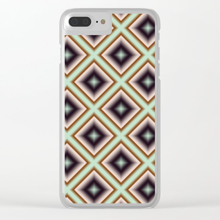 Starry Tiles in BMAP 01 Clear iPhone Case