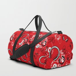 Gamers-Red Duffle Bag
