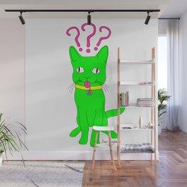 """""""Heckin Confused Derp Cat"""", by Brock Springstead Wall Mural"""