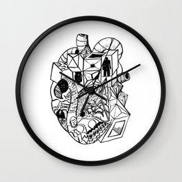 Metal Heart Wall Clock