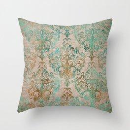 Aged Damask Texture 15 Throw Pillow