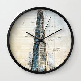 The Shard, London England Wall Clock