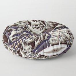 Skulls a plenty Floor Pillow