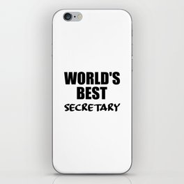 worlds best secretary funny quote iPhone Skin