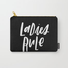 Ladies Rule Black Carry-All Pouch