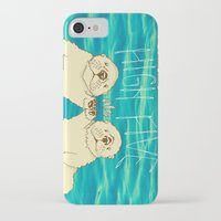 otters iPhone & iPod Cases featuring High Five / Sea Otters by Alissa Thiele