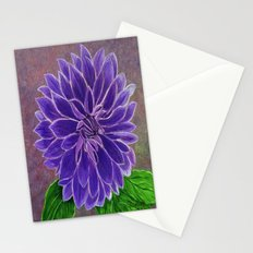 Purple Dahlia  Stationery Cards