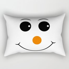 Happy face with orange nose vector Rectangular Pillow