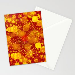 Abstract Yellows and Golds Stationery Cards