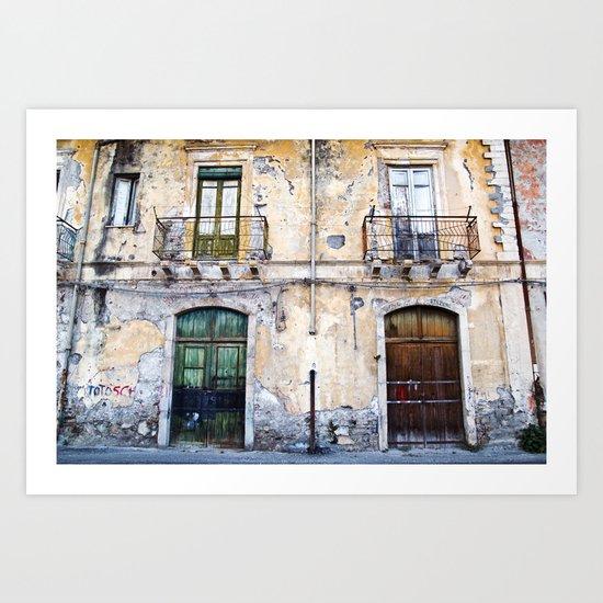Antique Facade - Sicily Art Print