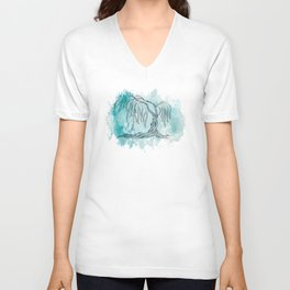 Weeping Willow Tree Unisex V-Neck