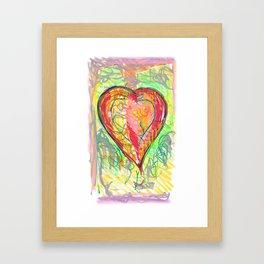 torn heart Framed Art Print