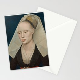 Portrait of a Lady by Rogier van der Weyden Stationery Cards