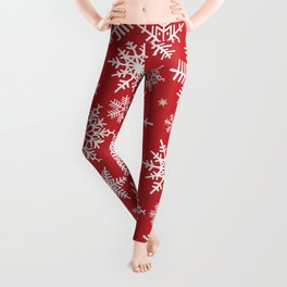 Christmas background with snowflake pattern Leggings