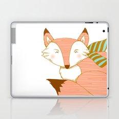 Fashionable Fox - Peach Laptop & iPad Skin
